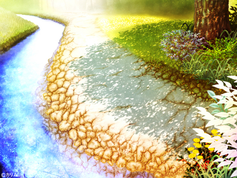 「風景画2014」11「川辺の小道 」制作06「完成」.jpg