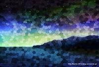 「ステンドグラスな風景」03「夜の帳が下りて」 風景画