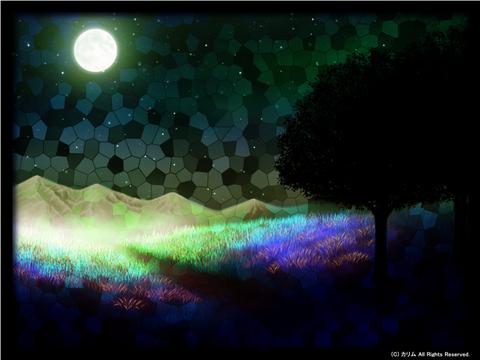 「ステンドグラスな風景」10「月景色」