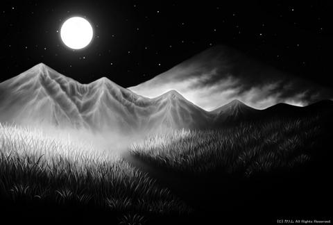 「月景色」05(モノクロ)