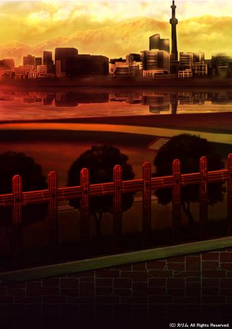 「街の風景」02「運動公園」02「夕暮れ時」