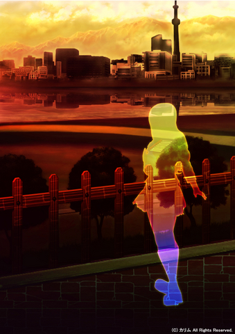 「街の風景」03「運動公園」03「夕日を浴びて」
