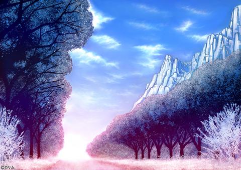 「風景画2014」02「山のある風景」02(TYPE-2_winter)