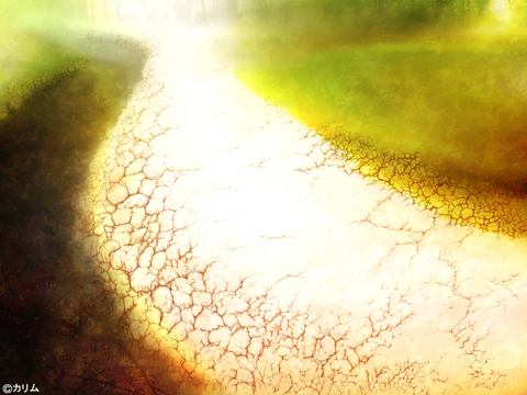 「風景画2014」06「川辺の小道 」制作01「風景ベース&線画」.jpg